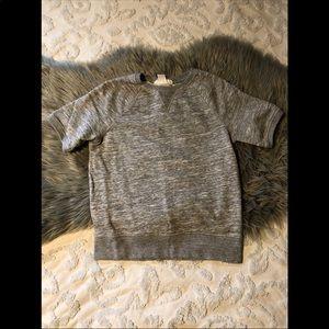 H&M short sleeve sweatshirt